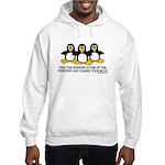 Burning Stare Penguins Hooded Sweatshirt