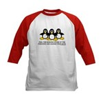Burning Stare Penguins Kids Baseball Jersey