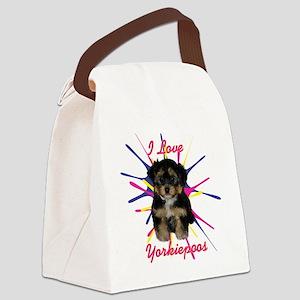 iloveyorkiepoos Canvas Lunch Bag