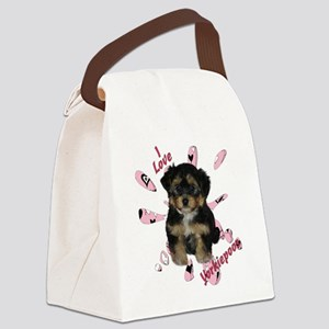 iloveyorkipeoos2 Canvas Lunch Bag