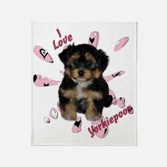 iloveyorkipeoos2 Throw Blanket