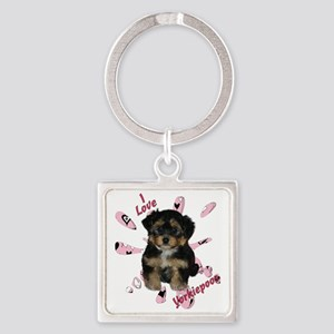 iloveyorkipeoos2 Square Keychain