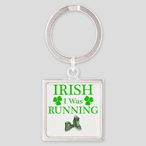 IrishIWasRunning Square Keychain