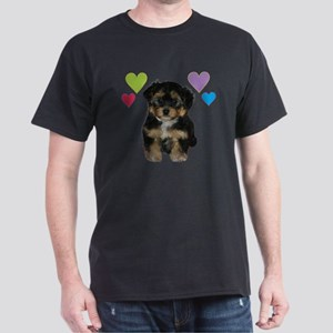 yorkiepoo_colorhearts Dark T-Shirt