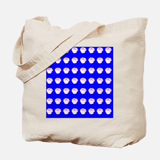Blue Cupcakes Lets Eat 23 Tote Bag