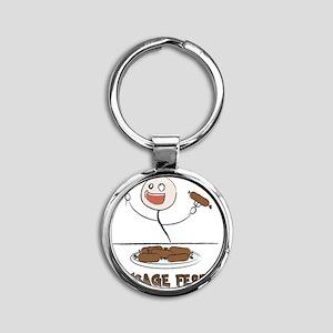 Sausage_Fest Round Keychain