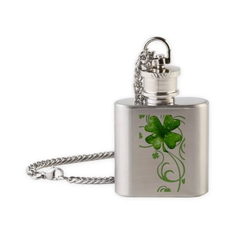 IrishShKeepskPtrIncr2Ph Flask Necklace