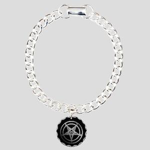 Satanic Pentagram Charm Bracelet, One Charm