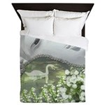 In the Garden - Quan Yin Flowers Queen Duvet