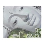 In the Garden - Quan Yin Flowers Throw Blanket