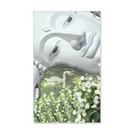 In the Garden - Quan Yin Flowers 20x12 Wall Decal