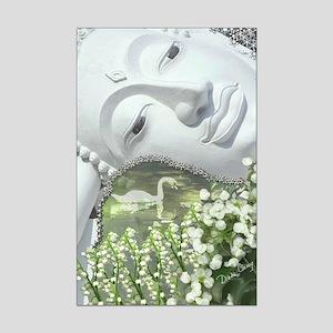 In the Garden - Quan Yin Flowers Mini Poster Print