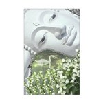 In the Garden - Quan Yin Flowers Mini Poster Print
