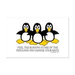 Burning Stare Penguins Mini Poster Print