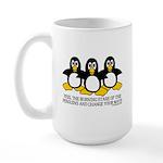 Burning Stare Penguins Large Mug