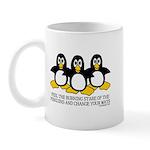 Burning Stare Penguins Mug