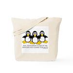 Burning Stare Penguins Tote Bag