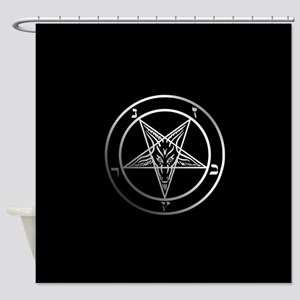 Satanic Pentagram Shower Curtain