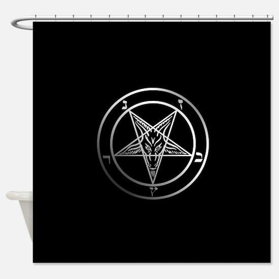 Satanic Pentagram Shower Curtain