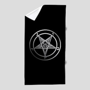 Satanic Pentagram Beach Towel