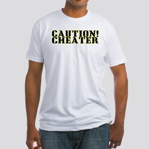 Caution! Cheater Fitted T-Shirt