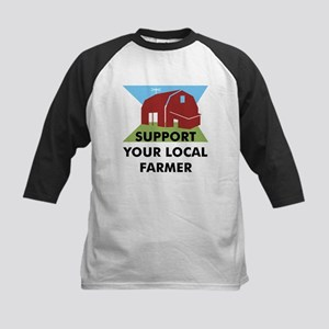 Support Your Local Farmer Kids Baseball Jersey