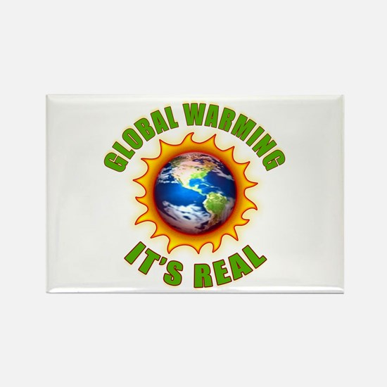 Global Warming Its Real Rectangle Magnet