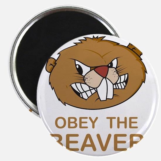 ObeyTheBeaver1Bk Magnet