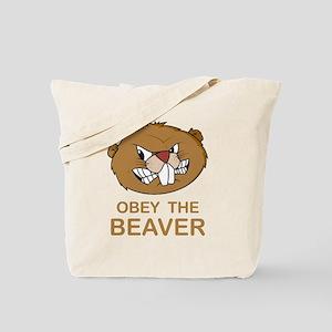 ObeyTheBeaver1Bk Tote Bag
