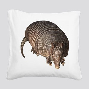 Armadillo Square Canvas Pillow