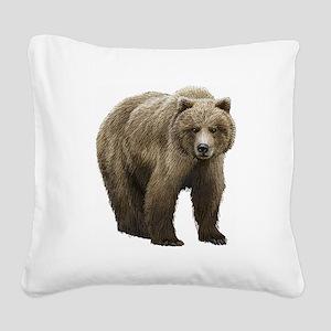 Bear Square Canvas Pillow