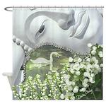 In the Garden, Quan Yin Flowers Shower Curtain