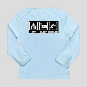 Eat Sleep Chameleon Long Sleeve T-Shirt