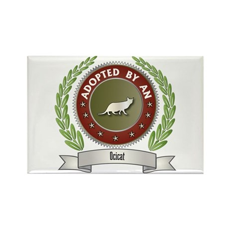 Adopted By Ocicat Rectangle Magnet (100 pack)