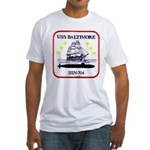 USS BALTIMORE Fitted T-Shirt