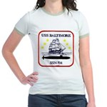USS BALTIMORE Jr. Ringer T-Shirt