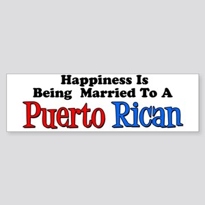 Happiness Married Puerto Rican Sticker (Bumper)