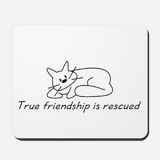 Cat Friendship Mousepad