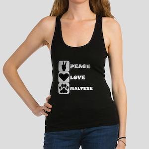 Peace Love Maltese Racerback Tank Top