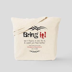 white_tee_back2 Tote Bag