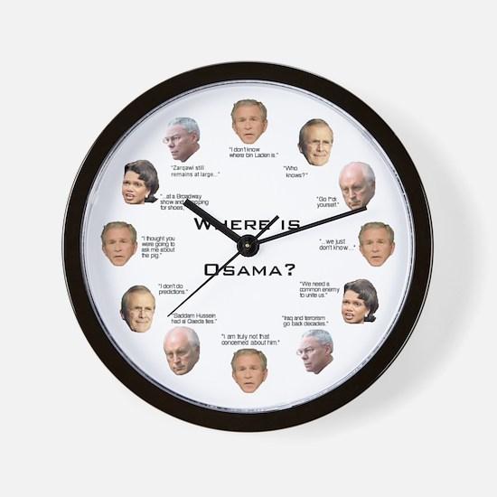 Where Is Osama? Wall Clock