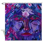 Sight, Abstract Magenta Goddess Shower Curtain