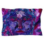 Sight, Abstract Magenta Goddess Pillow Case