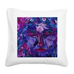 Sight Abstract Goddess Square Canvas Pillow