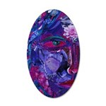 Sight Abstract Goddess 20x12 Oval Wall Decal