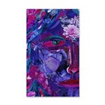 Sight, Abstract Magenta Goddess 35x21 Wall Decal