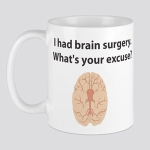 I had brain surgery. What's Mug