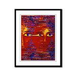 Conundrum III Orange Goddess Framed Panel Print