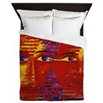 Conundrum III Orange Goddess Queen Duvet