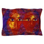 Conundrum III Orange Goddess Pillow Case